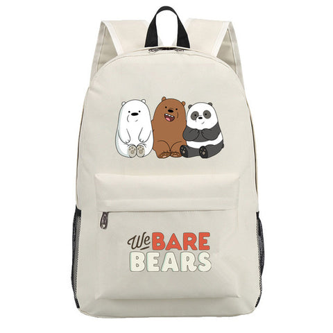 We bare bears travel school backpack book bag