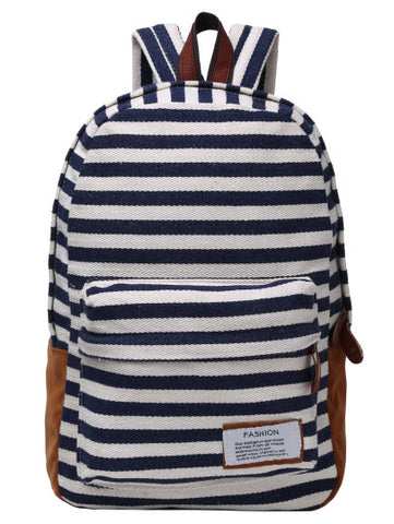 Stripe fashion school travel backpack