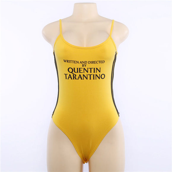 Yellow Written and directed by Quentin Tarantino bodysuit one piece