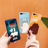 Metallic we bare bears iPhone phone case