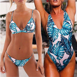 Tropix Leaf print swimsuit