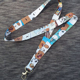 We bare bears necklace lanyard keychain