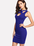 Crossfront bodycon mini fashion dress