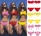 """Prize"" bow detail 2 piece bikini swimsuit"