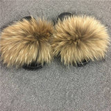 Classic barbie luxury fur fuzzy slides slippers