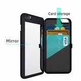 Luxury mirror card money holder phone case