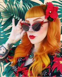 """Popstar"" vintage cateye small frame sunglasses"