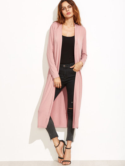 Long open front cardigan jacket