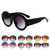 Circle oversize retro sunglasses