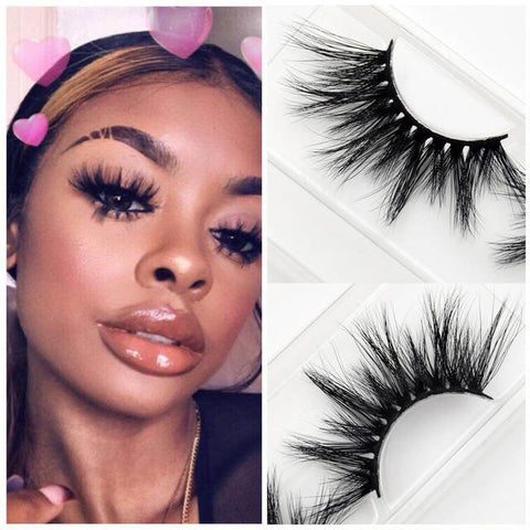 Iconic baddie high quality luxury mink eyelashes