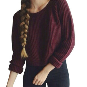 Trendy oversize knitted pullover sweater