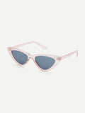Glitter funky triangle retro sunglasses