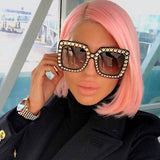 Oversized Square Frame Bling Rhinestone Sunglasses Fashion sunglasses
