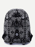 Bandana paisley design backpack school travel book bag