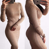 Knitted bodycon sweater dress