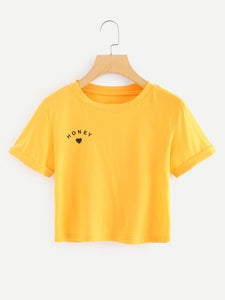Honey crop tshirt
