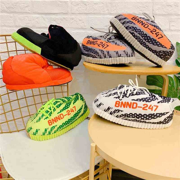 Indoor outdoor unisex oversize big sneaker slippers shoes gift for him and her
