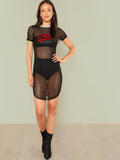 Chill sheer bodycon dress