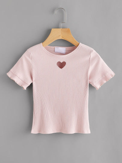 Heart cutout robbed top