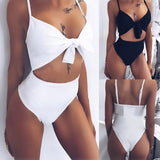 Dreamy 2piece cutout tie monokini one piece swimsuit