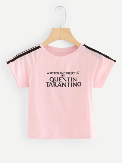 1f6618d74 Written and directed by Quentin Tarantino crop tshirt top – Iconic ...