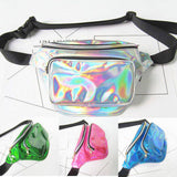 90s retro Iridescent fanny pack waist belt bag