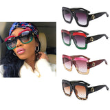Square frame couture retro sunglasses