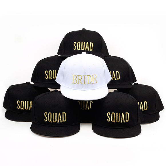 Bride Squad Bridal bachelorette party SnapBack hat