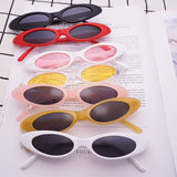"""Babydoll"" Retro vintage cateye small frame sunglasses"