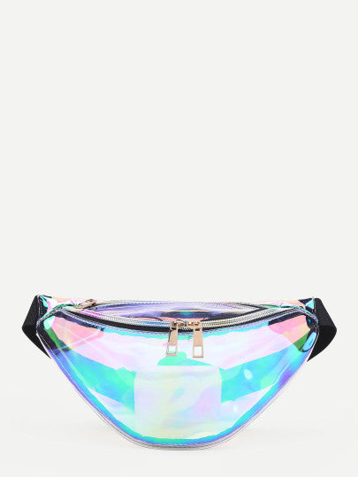 90s Clear Iridescent Fanny pack