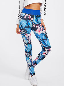 Floral tropics fashion leggings