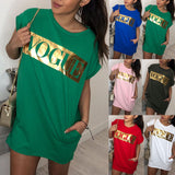 Vogue letter oversize tshirt dress