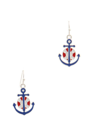 Anchor Drop Earring