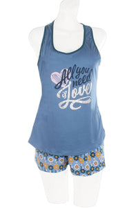 Knit Racerback Tank And Shorts Set