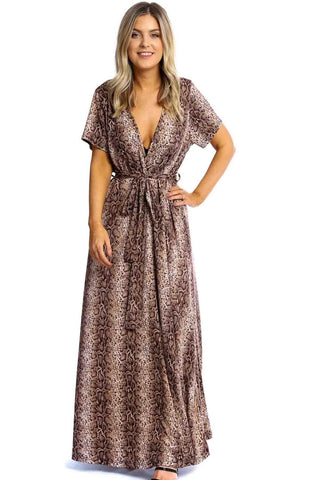 Elegant Plunging Neckline Maxi Dress