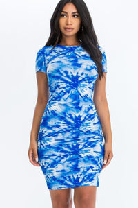 Tie-dye Printed Dress