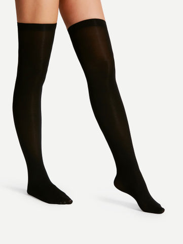 Black Over the knee stockings socks