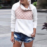 Quilt detail fashion pullover sweater jacket