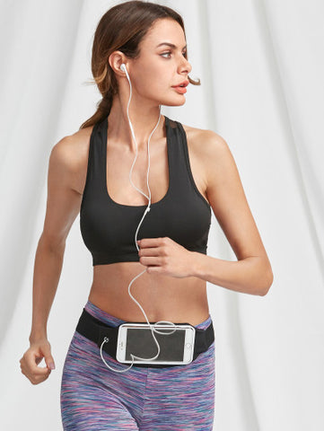 Phone Waist workout running bag with touchable screen