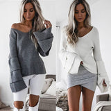 """Court"" oversize ruffle sleeve sweater"