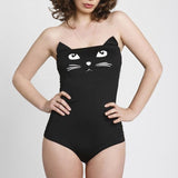 Black 3d cat bodysuit
