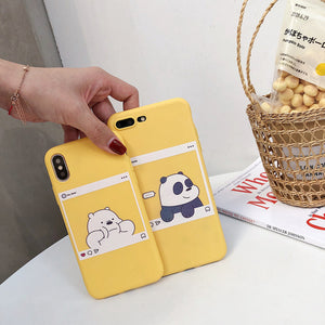 We bare bears instagram pic iPhone phone case