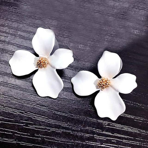 3d Flower earrings
