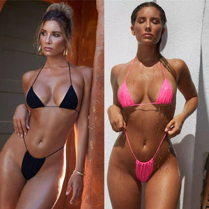 """Risky business"" triangle 2 piece Brazilian style bikini swimsuit"