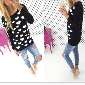 Heart design fashion sweater