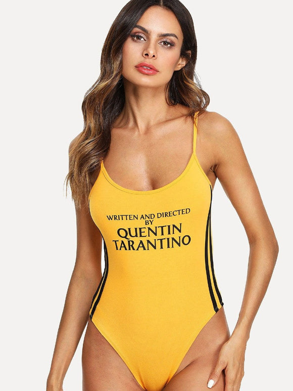 Written and directed by Quentin Tarantino bodysuit top