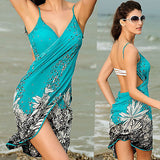 Backless bikini swimsuit coverup dress
