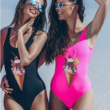 Ice cream delight one piece monokini swimwear