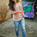 Sequined loose fit blouse - Iconic Trendz Boutique