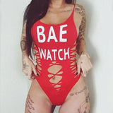 Bae watch cutout custom one piece bikini swimsuit - Iconic Trendz Boutique